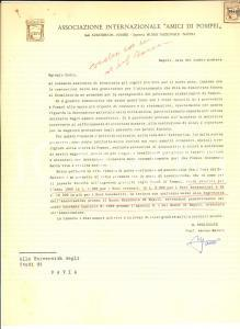 1960 NAPOLI Lettera Amedeo MAIURI pro