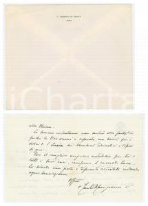 1970 CREMA Mons. Carlo MANZIANA - Lettera di ringraziamento AUTOGRAFO