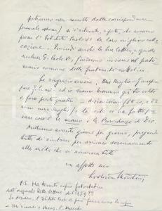 1981 BRESCIA Lettera Lodovico MONTINI pro