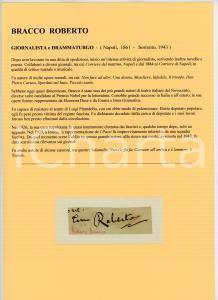 1900 ca Roberto BRACCO - Scrittore - AUTOGRAFO su carta (frammento)