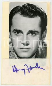 1960 ca Attore Henry FONDA - Foto con AUTOGRAFO su carta assorbente