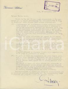 1956 ROMA Lettera produttore Giovanni ADDESSI su documentario - AUTOGRAFO