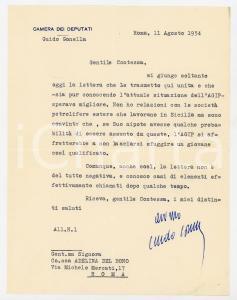 1944 ROMA Lettera on. Guido GONELLA alla contessa Del Bono - AUTOGRAFO