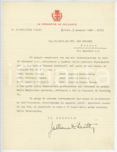 1940 MILANO Gian Giacomo GALLARATI SCOTTI su Fondazione Carducci *AUTOGRAFO