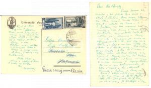 1952 MILANO Cartolina prof. Ignazio CAZZANIGA a Luigi BULFERETTI - Autografo FG