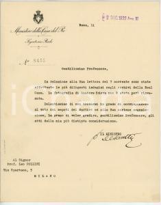 1932 ROMA Lettera Vittorio DE SANCTIS a Leo POLLINI per foto - AUTOGRAFO