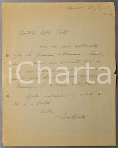 1941 ROMA Lettera Enzo MASETTI a Paola OJETTI per invio articolo - AUTOGRAFO