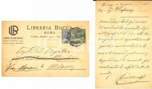 1925 ROMA Libreria BOCCA - Cartolina Gino MONALDI Autografo FP VG
