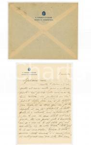 1935 CAGLIARI Lettera prof. Carlo Guido MOR alla moglie Giuliana - AUTOGRAFO