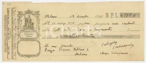 1935 MILANO Cambiale Calogero CIANCIMINO a ditta COVA & RIGAMONTI (1) AUTOGRAFO