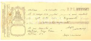 1935 MILANO Cambiale Calogero CIANCIMINO a ditta COVA & RIGAMONTI (4) AUTOGRAFO