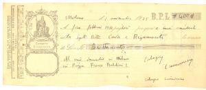 1935 MILANO Cambiale Calogero CIANCIMINO a ditta COVA & RIGAMONTI (3) AUTOGRAFO