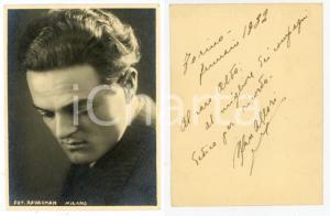 1932 TORINO TEATRO Attore Max ALLORI - Foto RAVAGNAN con AUTOGRAFO