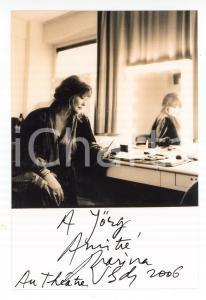 2006 FRANCE TEATRO Marina VLADY nel suo camerino - Foto con AUTOGRAFO 10x15