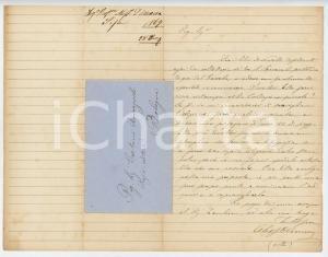 1867 PISA Alessandro D'ANCONA chiede edizione rara del Sercambi - AUTOGRAFO