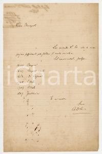 1880 PISA Lettera Alessandro D'ANCONA per saldo conto libri - AUTOGRAFO