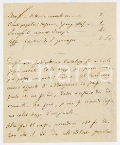 1868 PISA Lettera Alessandro D'ANCONA per ordine a ROMAGNOLI - AUTOGRAFO