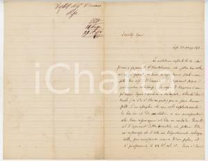 1875 PISA Lettera Alessandro D'ANCONA per libri editore Romagnoli - AUTOGRAFO