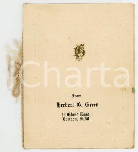 1920 LONDON Herbert G. GREEN - Biglietto auguri VINTAGE - AUTOGRAFO