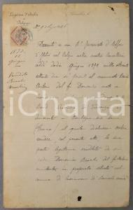 1872 BRUXELLES Légation d'Italie - Antonio BRACCHI cede eredità alla sorella