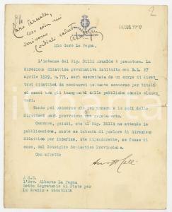 1919 ROMA Sottosegretario Guido CELLI all' avv. Alberto LA PEGNA - Autografi