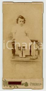 1910 PINEROLO Ritratto di Luigi VALENTE a due anni - Foto P. SANTINI 9x18 cm