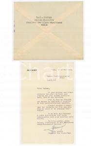 1959 VENCE Lettre sénateur Emile HUGUES après son élection *AUTOGRAPHE