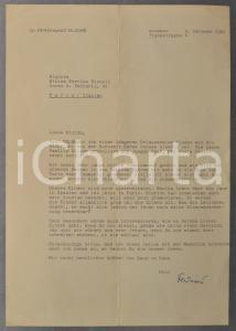 1961 NURNBERG Lettera dr. Ferdinand BLICKS a Ninina FERRINO RIZZOLI *AUTOGRAFO