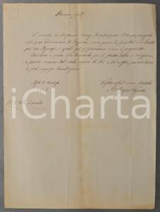 1845 ASTI Mons. Filippo ARTICO per anticipazione tempo pasquale - AUTOGRAFO