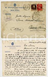 1942 MILANO Regio Politecnico - Cartolina Carlo Isnardo AZIMONTI - AUTOGRAFO FG