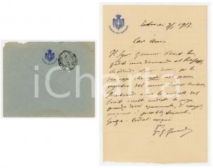1917 TORTORICI Lettera on. Giuseppe FARANDA per raccomandazione - AUTOGRAFO