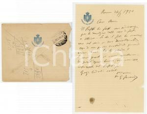 1920 ROMA Lettera on. Giuseppe FARANDA per demolizione di una casa- AUTOGRAFO