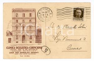 1931 ROMA Clinica Oculistica CIRINCIONE - Cartolina postale FP VG
