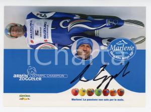 2006 SLITTINO Armin ZÖGGELER Campione olimpico - Cartolina con AUTOGRAFO FG