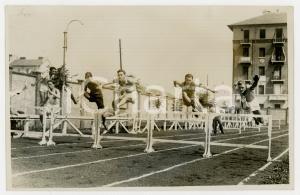 1940 ca TORINO LITTORIALI ATLETICA Giovani durante corsa a ostacoli *Foto