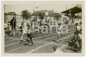 1940 ca TORINO LITTORIALI ATLETICA Gara 100 metri piani - Traguardo - Foto