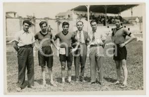 1940 ca TORINO LITTORIALI SPORT Atleti con gli allenatori - Foto 18x13 (1)