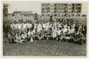 1940 ca TORINO LITTORIALI SPORT Atleti con gli allenatori - Foto 18x13 (3)
