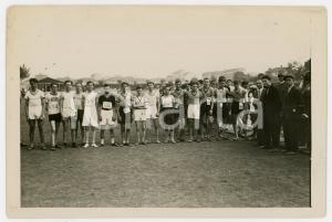 1940 ca TORINO LITTORIALI SPORT Atleti in attesa delle gare - Foto 18x13 cm