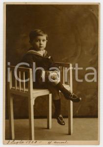 1920 MONTEVIDEO (URUGUAY) Ritratto del figlio di emigrati italiani *Foto 12x16