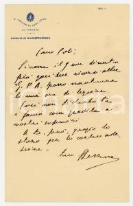 1940 ca FIRENZE Facoltà GIURISPRUDENZA Lettera prof. Silvio LESSONA - AUTOGRAFO