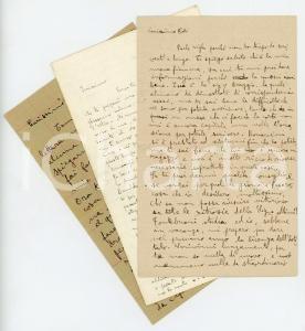 1909-1910 PESARO Lotto tre lettere Filippo GALLI - Vita da studente *CURIOSO