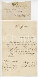 1877 CASALE MONFERRATO Lettera avv. Francesco LANZA per invio saggio *Autografo