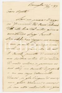1877 RONCAGLIA Giovanni LANZA ringrazia per un saggio ricevuto *Autografo