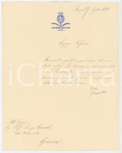 1888 ROMA Lettera sottosegretario Filippo MARIOTTI per libro *AUTOGRAFO