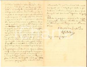 1904 BOSCO MARENGO Lettera Edoardo BISIO per invio di un giornale - Autografo
