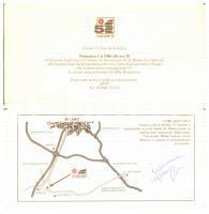 1986 MILANO LACCHIARELLA IL GIRASOLE - Autografo Susanna MESSAGGIO su invito