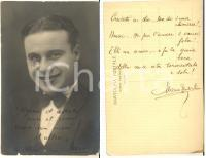 1925 ca TEATRO Mario VERDICCHIO - Foto cartolina con AUTOGRAFO FP