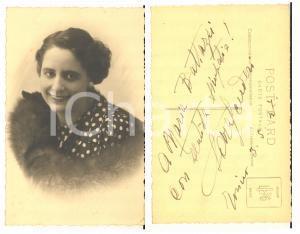 1947 TORINO LIRICA Soprano Sara SCUDERI - Foto cartolina con AUTOGRAFO