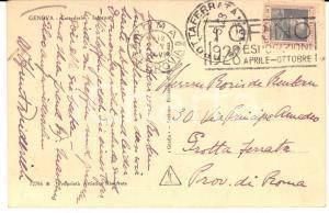 1928 GENOVA Scultore William HUNT DIEDERICH  - Cartolina AUTOGRAFA FP VG
